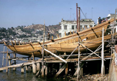 Karsten's junk shipyard at Cheung Chau in the 70s