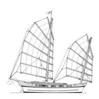 12.5m Modern sailing junk