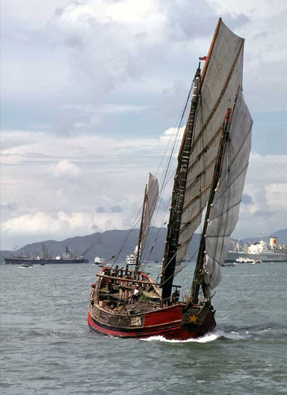 Traditional Chinese Sailing Junk