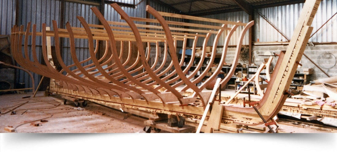 Hull structure of a modern sailing junk