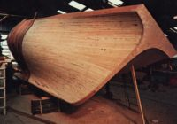 Strip planking sailing junk hull
