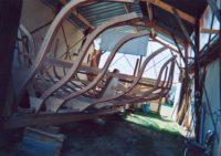 Frames assembled on keel